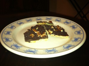 Tree Bark Dessert recipe, chocolate, salty and sweet