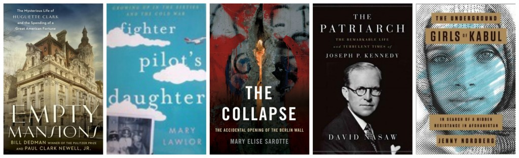 Empty Mansions, Fighter Pilot's Daughter, The Collapse, The Patriarch, Joseph Kennedy, Underground Girls of Kabul
