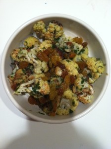 Roasted Cauliflower with Caper Vinaigrette