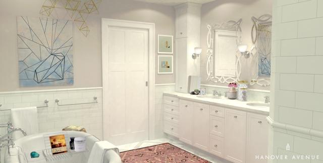 Hanover Avenue Mineral Springs Bathroom