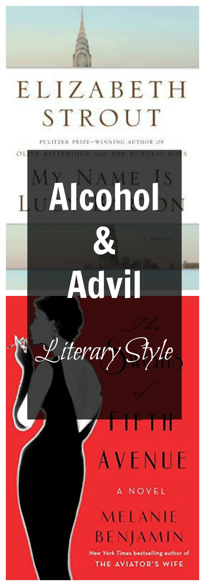 Alcohol & Advil is a feature where I pair a book likely to cause a