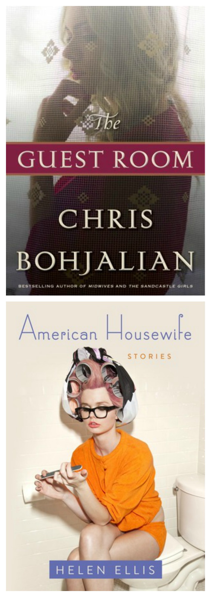 Mini reviews of Chris Bohjalian's The Guest Room (read it!) and American Housewife (skip it).