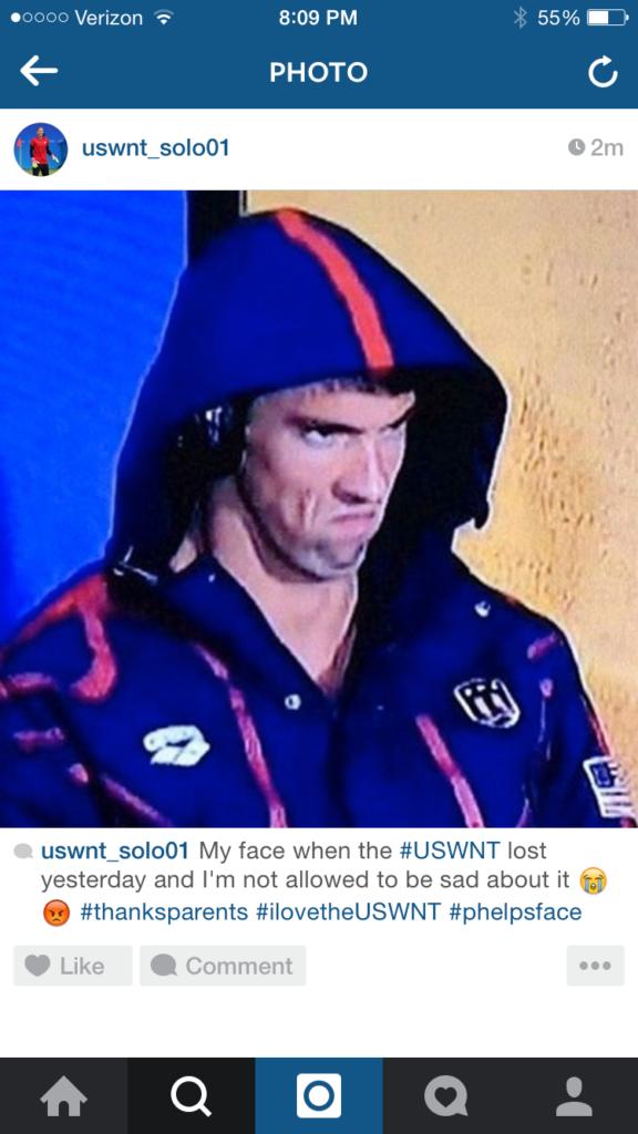 Michael Phelps, Phelpsface