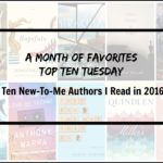New-To-Me Authors I read in 2016