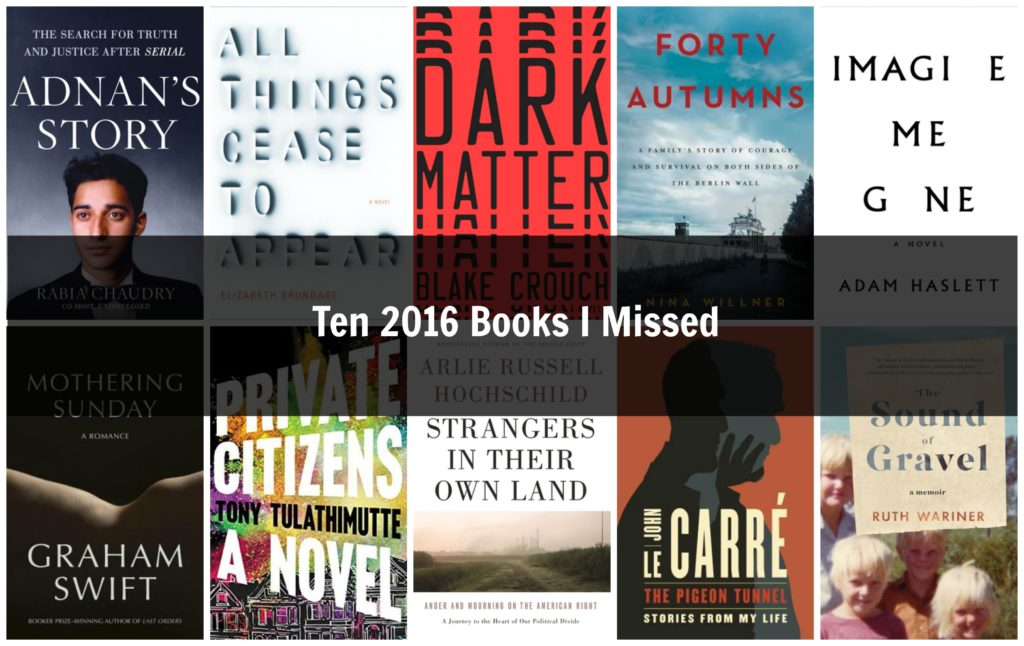 Top 10 2016 Books I Missed