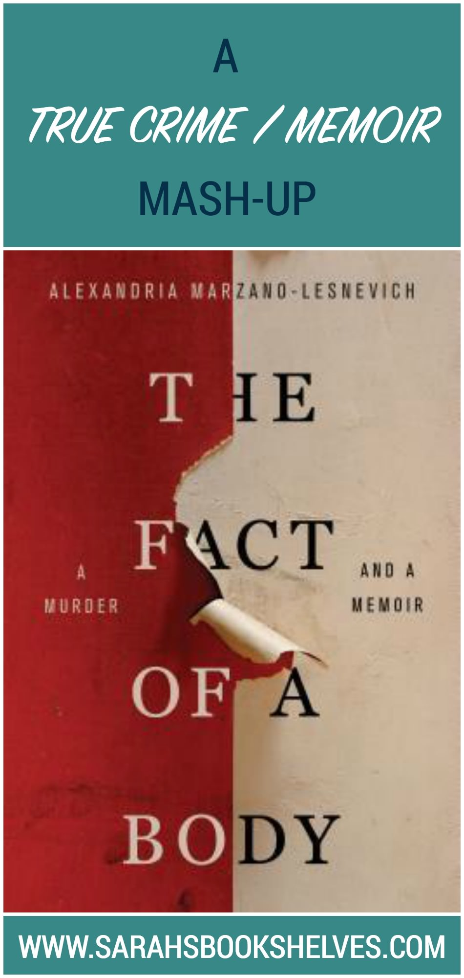 The Fact of a Body by Alexandria Marzano-Lesnevich is a thoroughly unique, complex, and emotionally gut-wrenching mash-up of true crime story and dysfunctional childhood memoir.