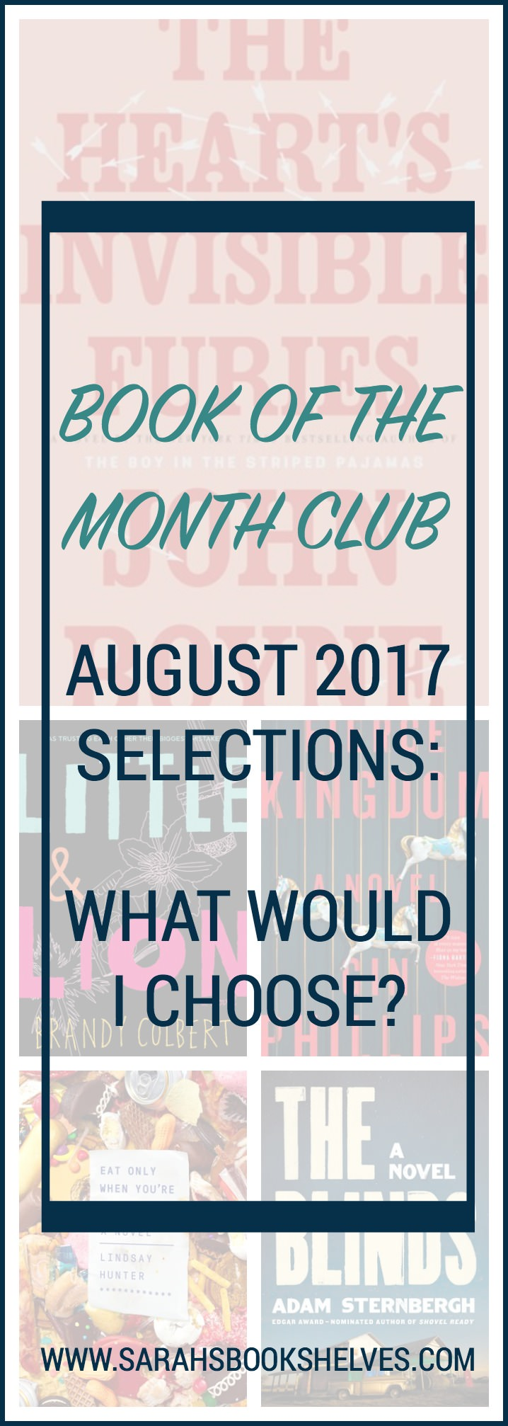Book of the Month Club August 2017 Selections (What Would I Choose?): Check out my commentary on all the Book of the Month Club August 2017 selections & choose which one is best for you! Plus, new pricing!
