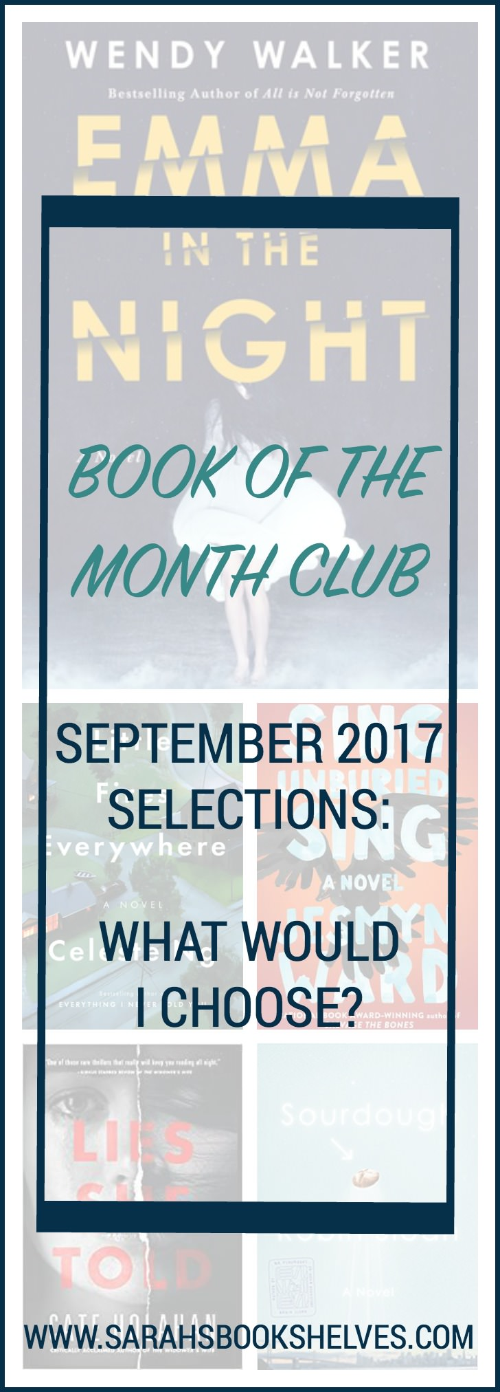 The Book of the Month Club September 2017 selections are AWESOME! Best month in awhile! Check out my commentary on all the books...and see what I would choose! #bookofthemonthclub #bookofthemonth @bookofthemonth