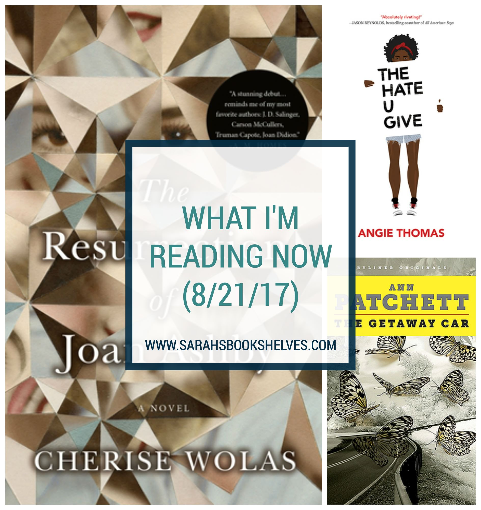 What I'm Reading Now (8/21/17): I've been delving into library books lately (The Hate U Give, South Pole Station) and am just starting an August 29 release (The Resurrection of Joan Ashby).