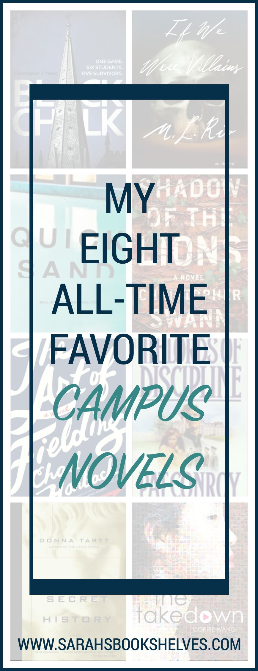 I'm a huge sucker for campus novels...here are eight of my all-time favorites! Some might make you wish you were back in school...and some won't!