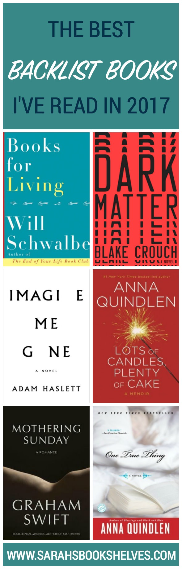 Backlist Beauties: The Best Backlist Books I've Read in 2017 So Far #book #bookish #bookworms #booklovers #reading #bestbooksof2017