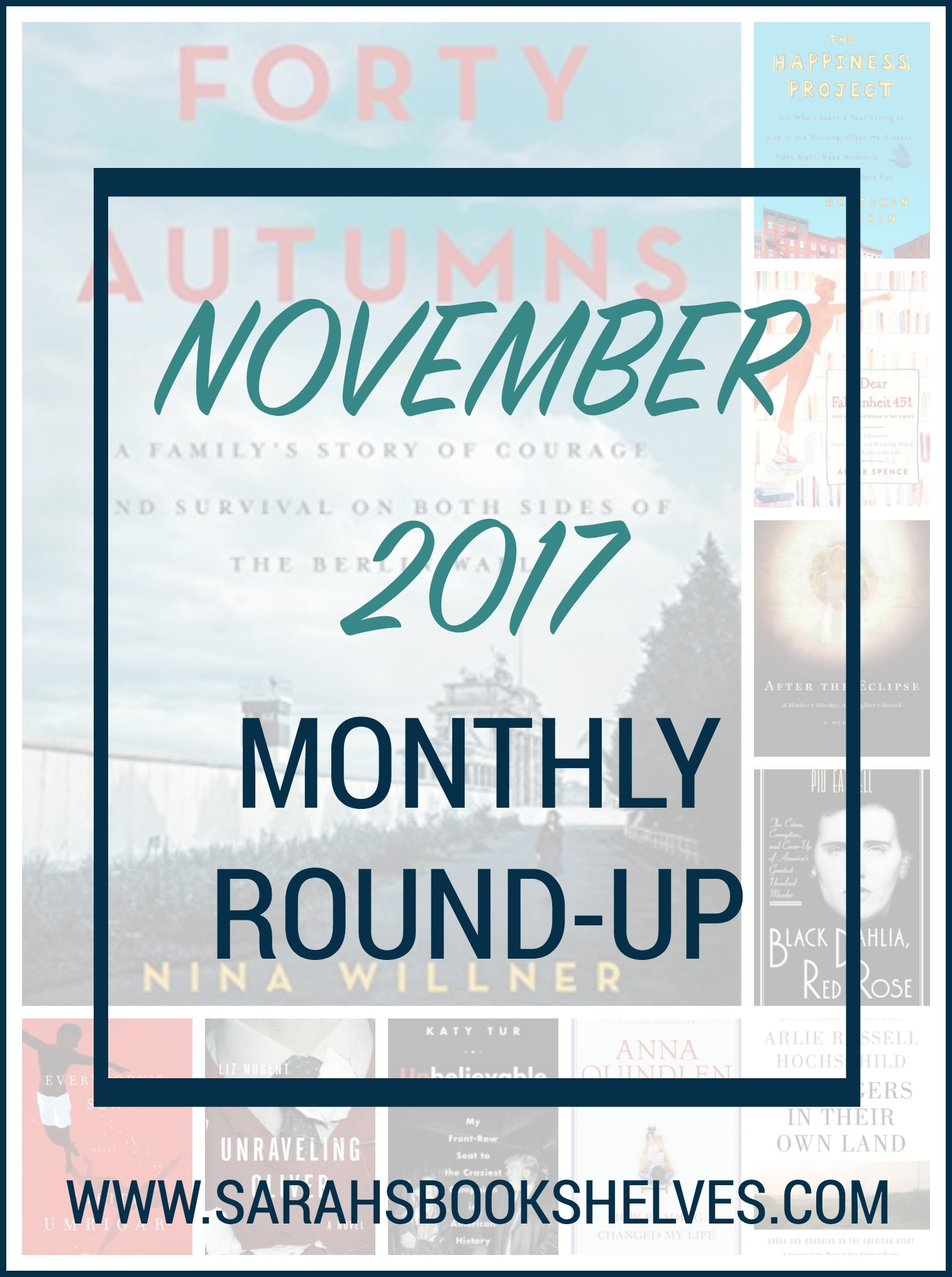 November 2017 Monthly Round-Up: all about nonfiction for Nonfiction November! Plus, a couple novels to mix things up. #reading #bookreviewblog #book #bookish #bookworms #booklovers