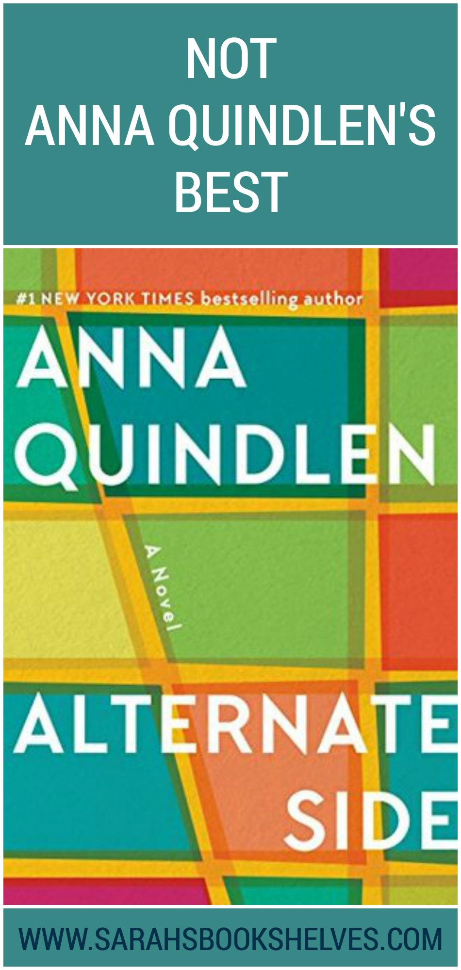 I adore Anna Quindlen (both her fiction and nonfiction) and saw instances of her brilliant, trademark writing in Alternate Side, but the plot was a bit boring and I know she can do better. #reading #bookreviews #book #bookish #bookworms #booklovers