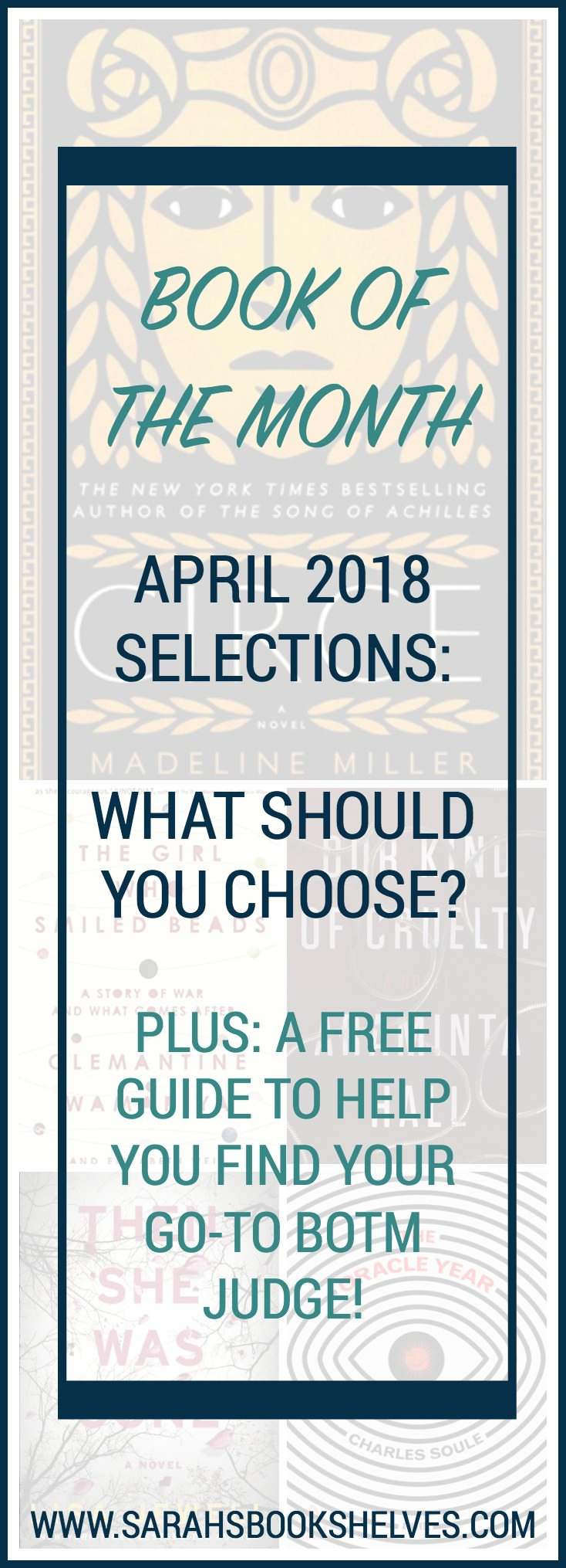 book of the month april 2018 selections what book should you choose sarah 39 s book shelves. Black Bedroom Furniture Sets. Home Design Ideas