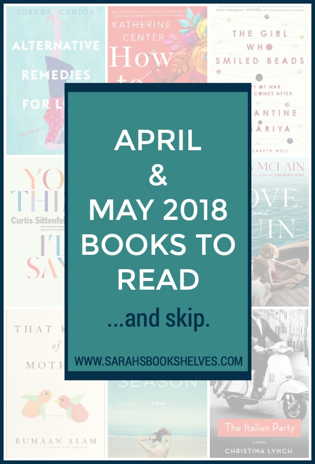 April and May 2018 Books to Read