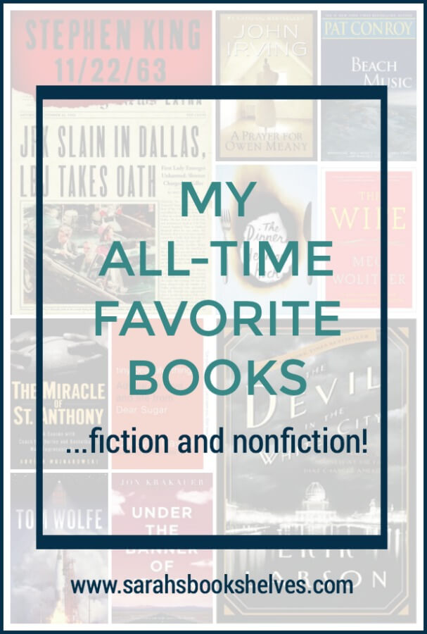 I've got your next reading list! My all-time favorite books...including both fiction and nonfiction! You're sure to be able to find some books to read from this list! And, bookmark this one because I add new books every now and then. #reading #books #bookish #bookworm #booklover #bookstagram