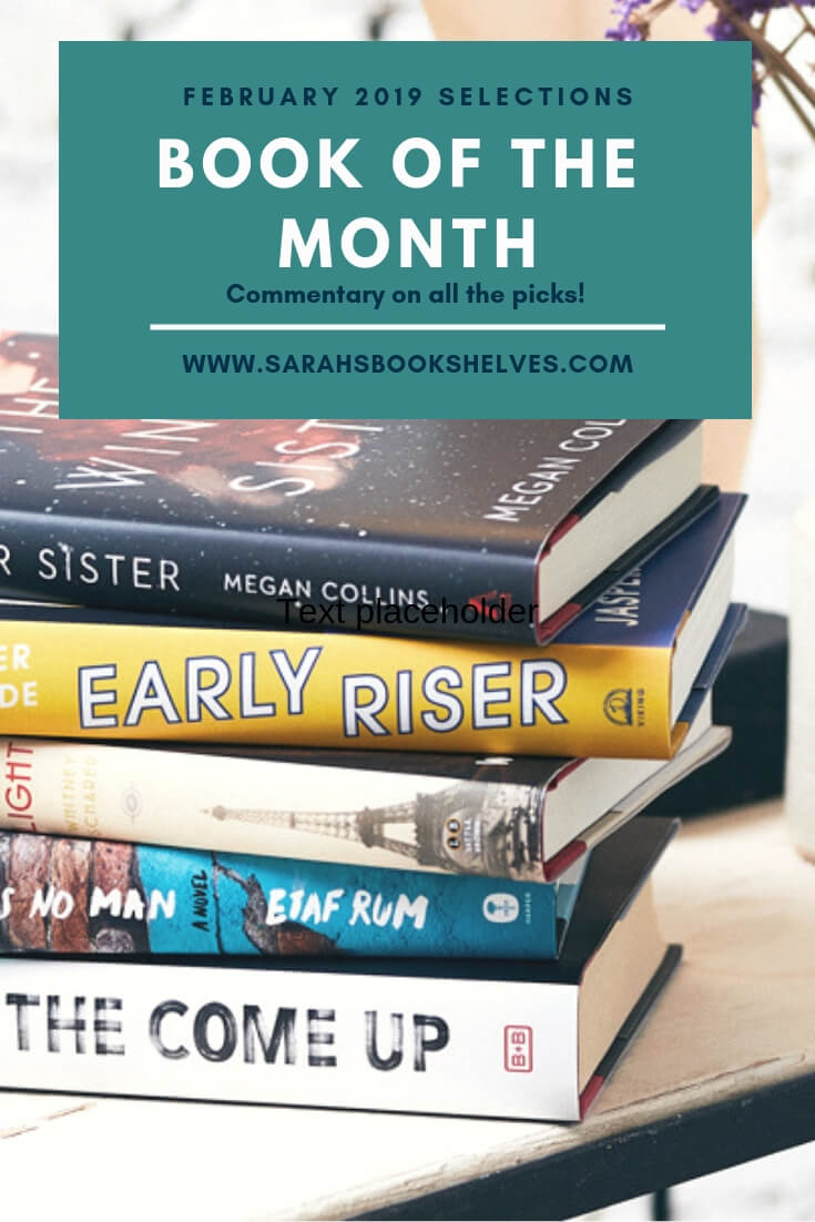 Book of the Month February 2019 Selections: I love this month's picks! Three debut novels, an unputdownable page turner, and a sci-fi / fantasy novel. #reading @bookofthemonth #pageturner
