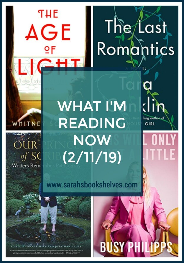 What I'm Reading Now (2/11/19): I'm on a great reading streak...one 4.5 star historical fiction novel followed by a likely 5 star family saga. Definitely add these two to your reading list! #books #currentlyreading