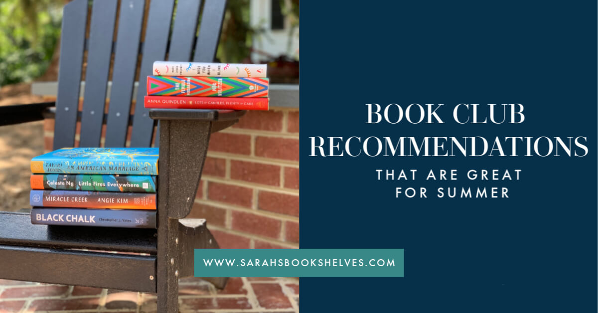Book Club Recommendations that are great for summer