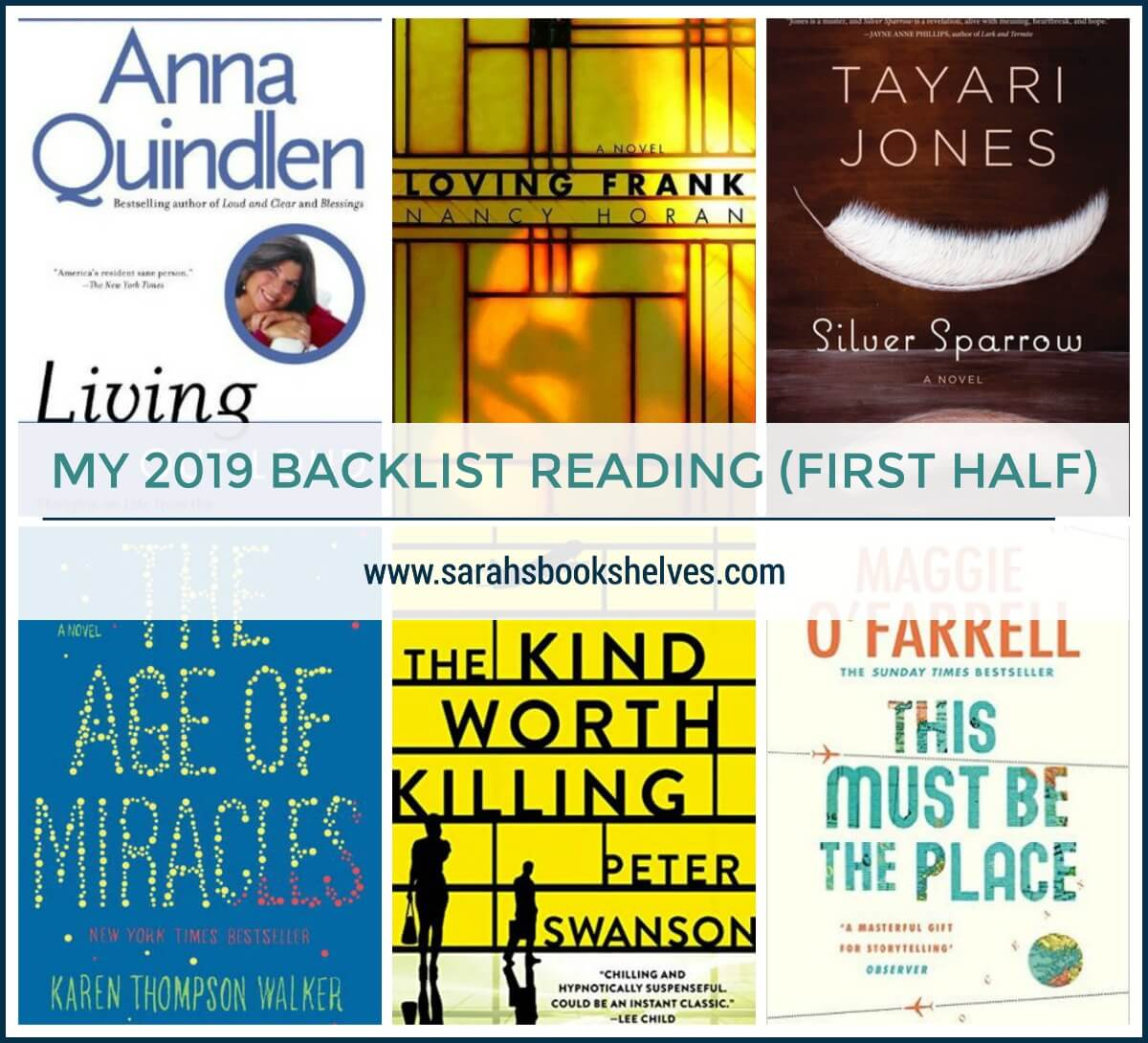 2019 backlist reading