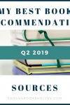 Q2 2019 book recommendation sources