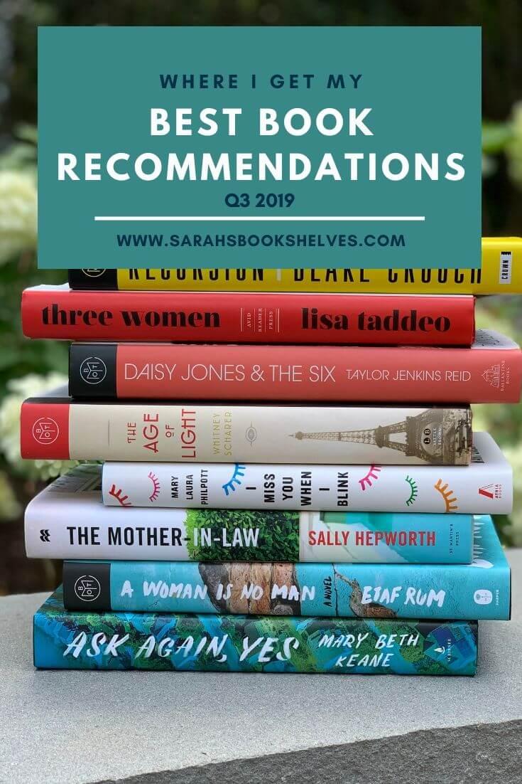 Q3 Book Recommendation Sources
