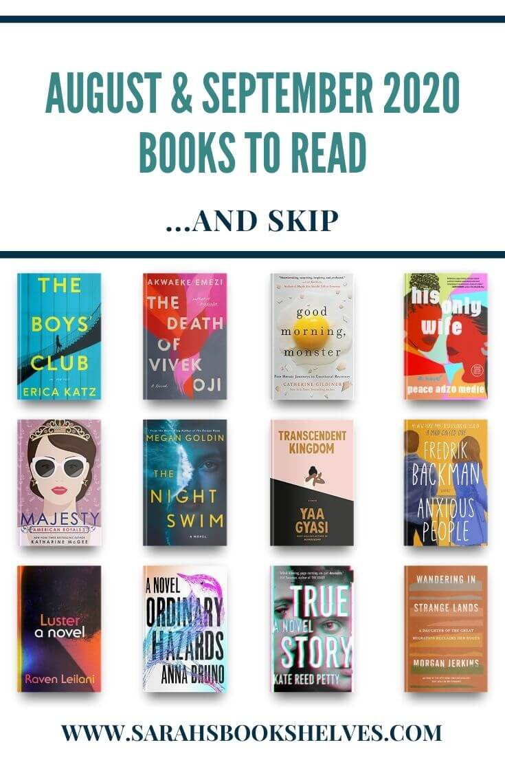 August and September 2020 Books to Read